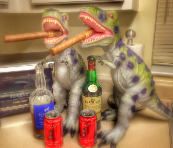 Louie and Genosaurus Rex ah ringin' in a hell of a Christmas Eve, you know what I'm saying? and they want YOUSE to have a happy, safe, and most of all, WICKED PISSAH Christmas, too!